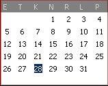 Märts 2007 : õige kalender