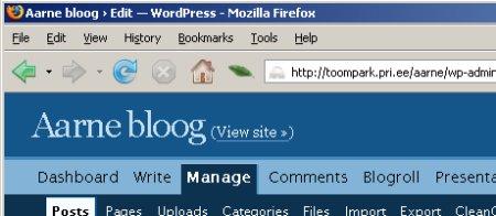 Firefox normaalolekus
