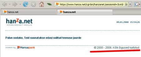 Hanza.net 2000 - 2006