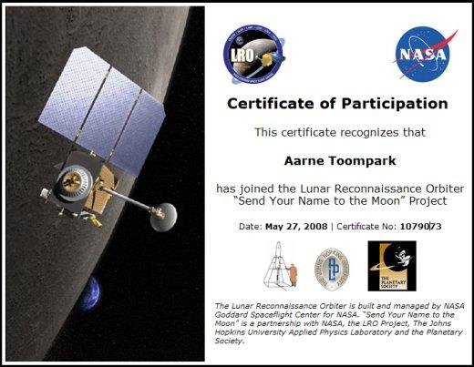 Kuu sertifikaat