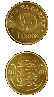 Uued 1 kroonised mündid