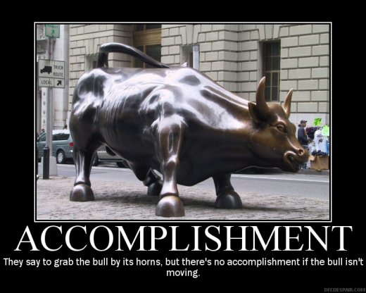 Demotivational: accomplishment