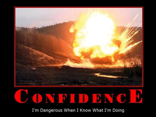 Demotivational: confidence