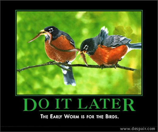 Demotivational: do it later