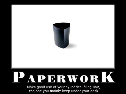 Demotivational: paperwork