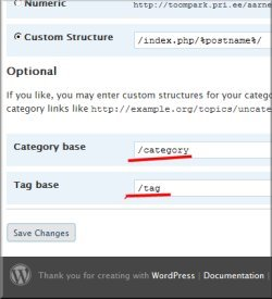 WordPress 2.6 seaded