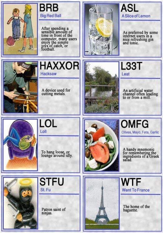 Internet lingo 4 idiots