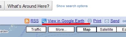 Google Maps : Eksport