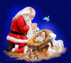 Jõuluvana ja jeebuslapsuke
