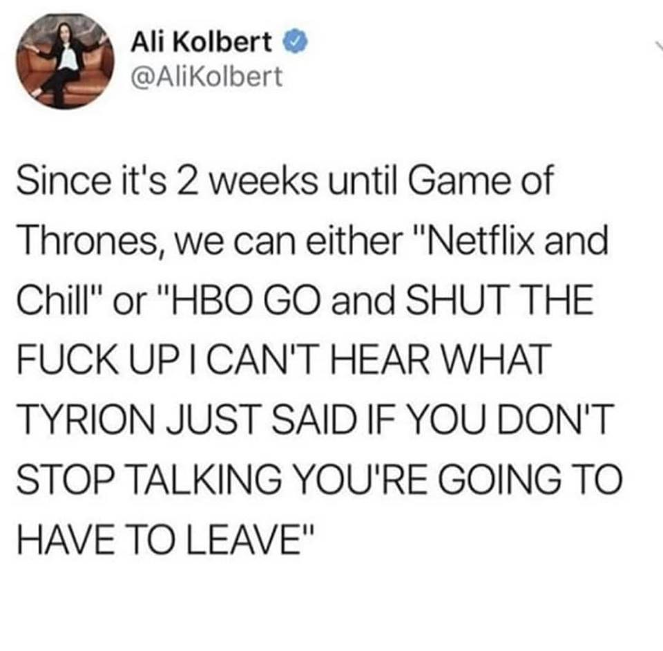 hbo go netflix and chill game of thrones