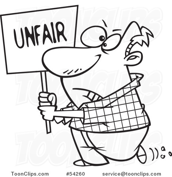 Image result for unfair cartoon