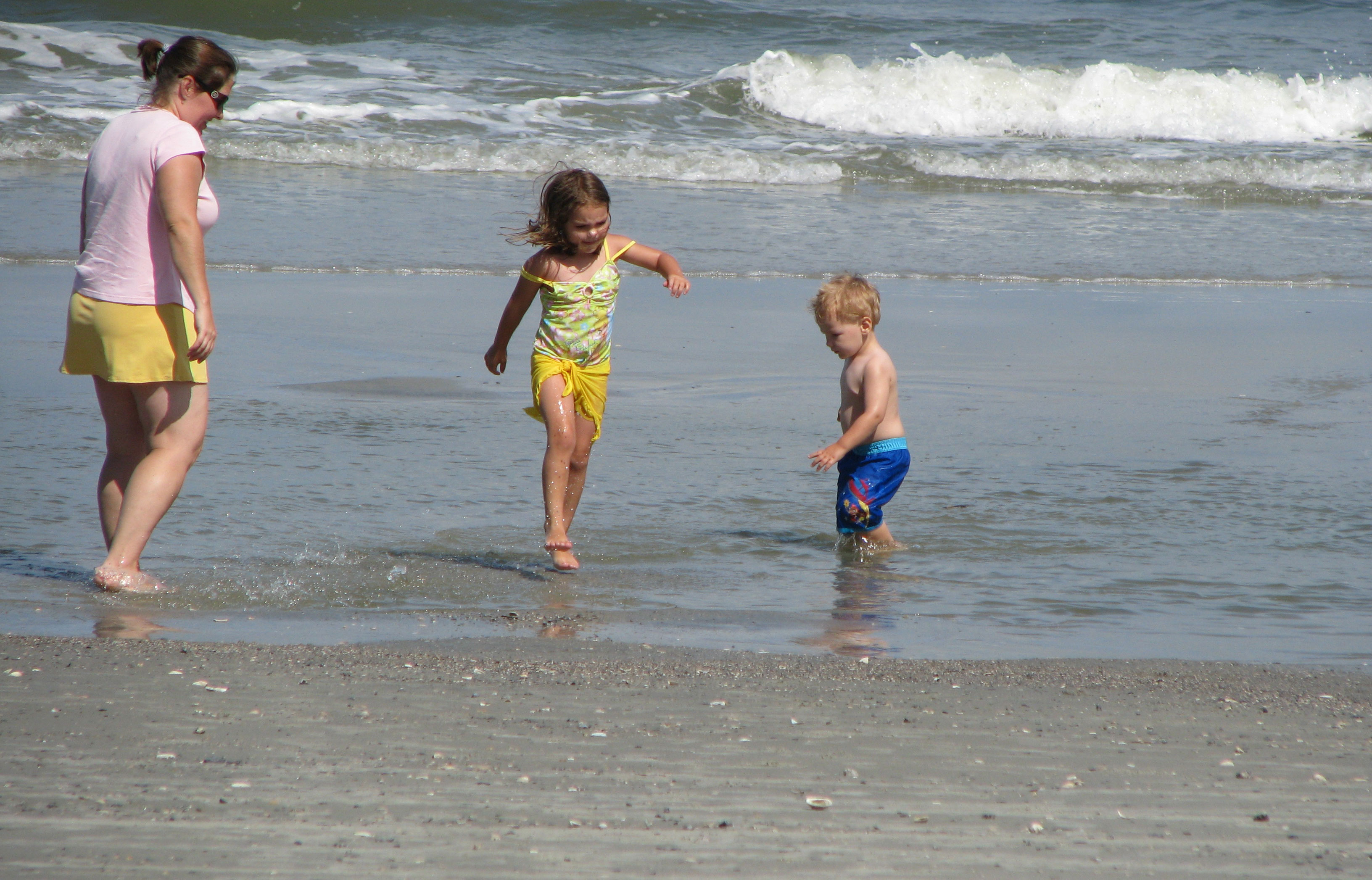 Wrapping up the day at the beach at Hunting Island State Park