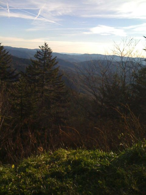 View from near the top of the spur road leading to Clingman's Dome