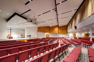 Auditorium - Comfortable seating for over 400 people.