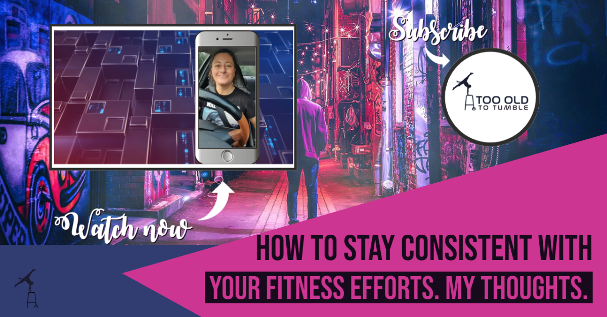 How to stay consistent with your fitness efforts. My thoughts.