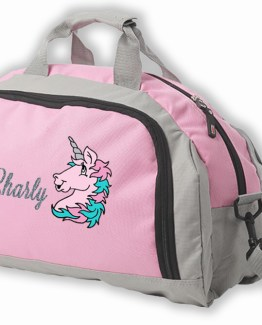 pink unicorn weekend bag