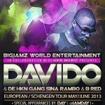 Davido & HKN Gang Europe/Schengen Tour