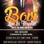 Event: Bovi Live In Toronto Oct 10th