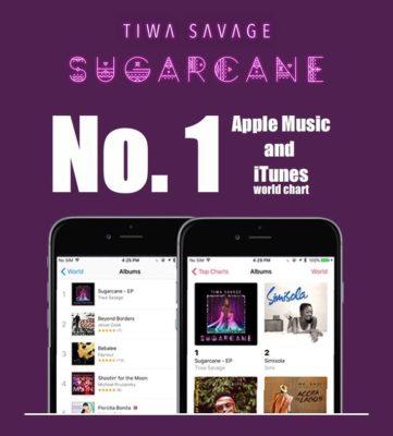 Tiwa Itunes Chart - Tiwa Savage's Sugarcane EP Ranks #1 On iTunes & Apple Music Charts