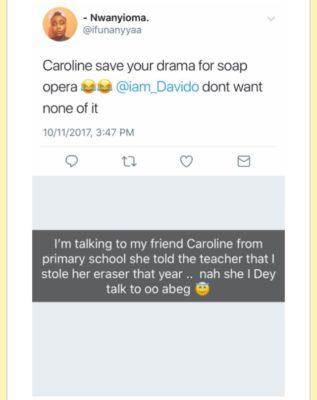 "Davido Denies Shading Caroline Danjuma On 'Fia"" [SEE PICTURE]"