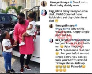"Image result for ""Ugly maggot, you don't represent a real man""- Instagram user slams Timaya"
