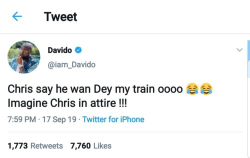 Chris Brown Has Requested To Be My Best Man On My Wedding Day – Davido Reveals