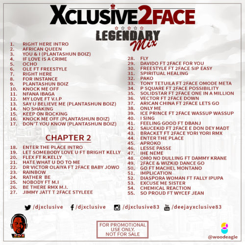 "Xclusive2FaceMix Back Cover - DJ Xclusive – ""Best Of 2Baba"" (2Face Legendary Mix)"
