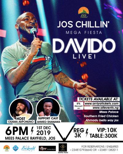 Jos Chillin' Mega Fiesta Returns With Davido Live!