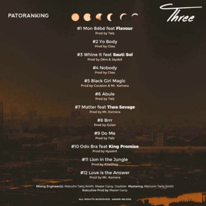 "[Album] Patoranking – ""Three"" 4"