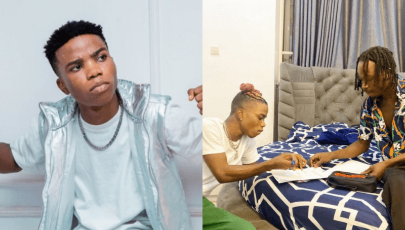 Nigerians Express Disbelief As Naira Marley Signs Lyta In His Bedroom || Watch !!