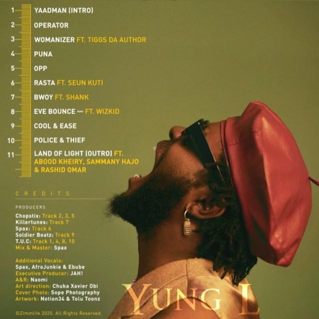 "[Album] Yung L – ""Yaadman Kingsize"" ft. Seun Kuti, Wizkid 1"