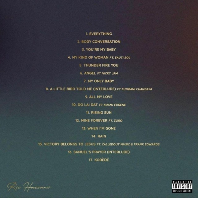 Ric Hassani The Prince I Became Album Tracklist