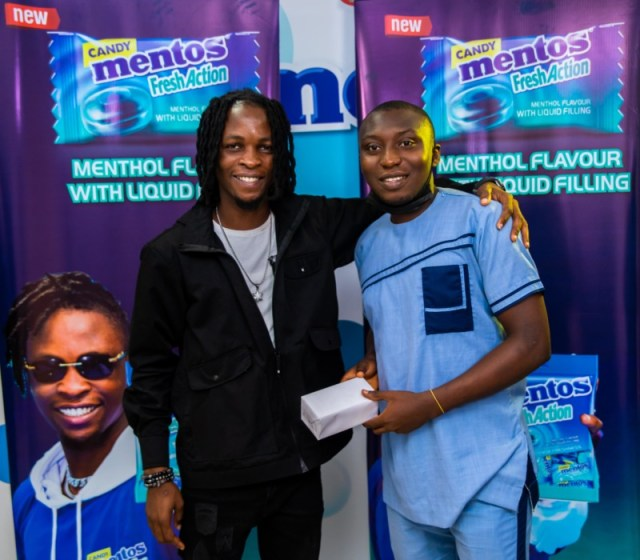 Laycon, BBN winner rewards winners with Phones for Mentos Fresh Action Candy 4