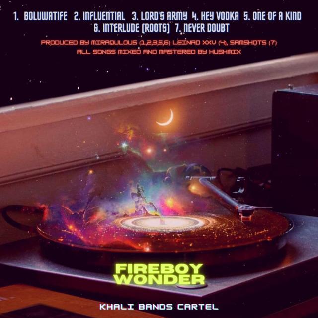 """Fireboy Wonder – """"MOROUNFOLA NEVER DOUBT"""" LP 2"""