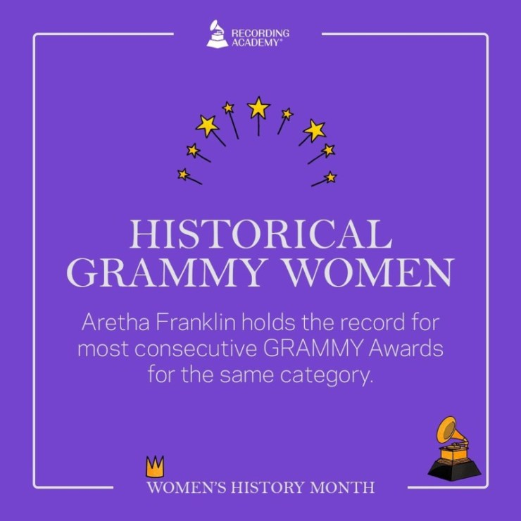 Women's History Month; Grammy And The Female Artistes That Made History 12