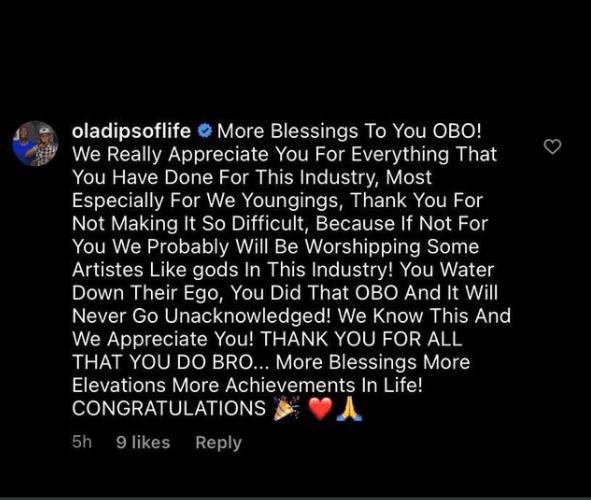 """If Not For Davido, We'll Be Worshipping Some Artistes Like gods""- OlaDips Throws Shade As He Celebrates Davido 20"