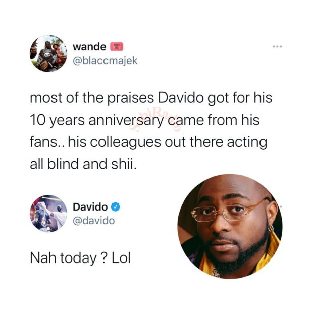 Davido Reacts To Artistes Who Refused Celebrating Him On His 10th Anniversary 17