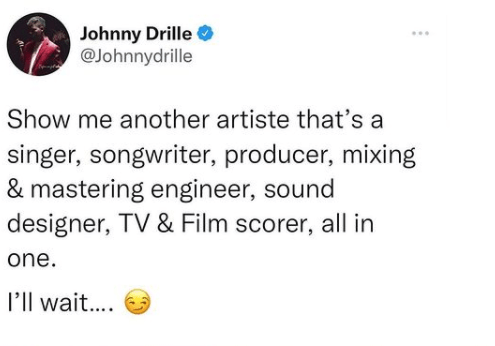 Johnny Drille Brags About His Talents, Asks Netizens To Show Him A More 'Talented Artiste' 3