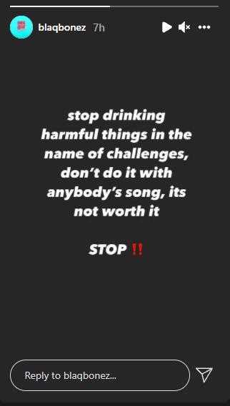 Alcohol Challenge: Blaqbonez Joins Joeboy To Warn Fans Against Drinking Harmful Substance 4
