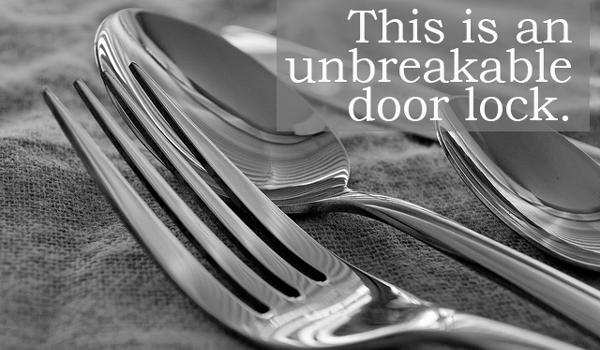 fork door lock