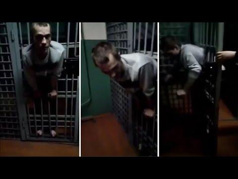 Prisoner got his body stuck between his cell bars