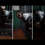 Prisoner got his body stuck between his cell bars