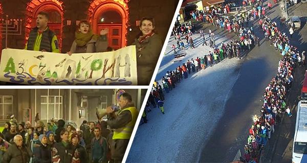 """Протест в София """"Спасете национален парк Пирин"""""""