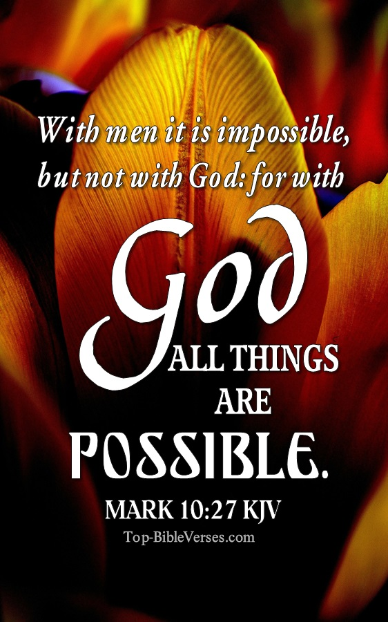Mark 10:27 Inspiring Bible Verse Images | Mark 10:27 Pictures