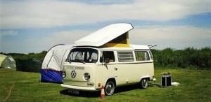VW camper at Top Farm