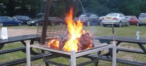 Fire Pit on campsite