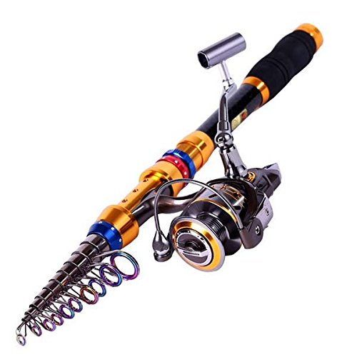 Telescopic Saltwater Freshwater Fishing Rod Reel Combos (3.6m/11.5ft+DK4000)