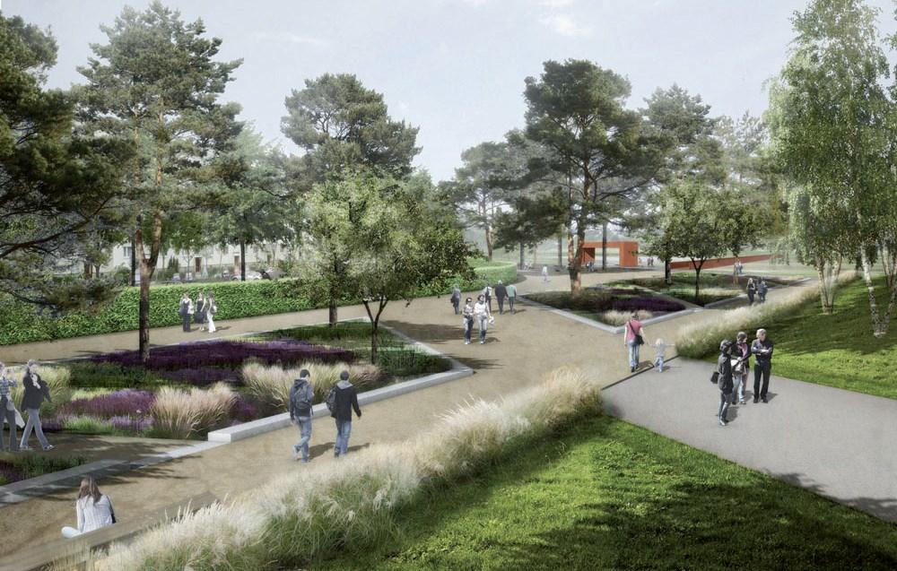 Der Märkische Garten am Haupteingang Kienbergpark - Foto: © geskes.hack landschaftsarchitekten