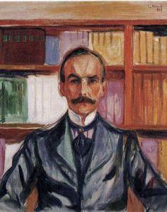 Edvard Munch – Porträt Harry Graf Kessler, um 1904; Öl auf Leinwand, Privatsammlung