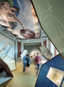 Beschäftigung mit dem Goldenen Schnitt in der Renaissance und im 19. Jahrhundert - Museum für Kommunikation Berlin, Foto: Kay Herschelmann
